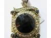 onyx zircon pendant
