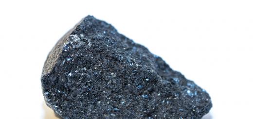 apatite - indigo coloured crystal